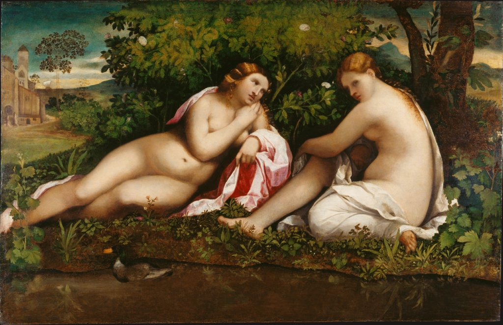 Two Nymphs at Rest (Jupiter and Callisto?), Jacopo Palma il Vecchio