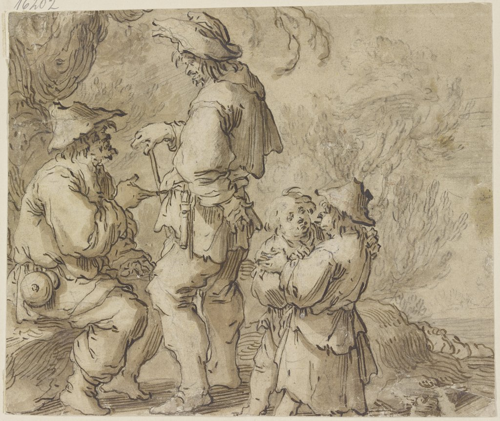 Group of farmers, Adriaen van de Venne   ?