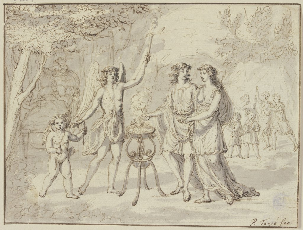 Sacrificing young couple, Pieter Tanjé