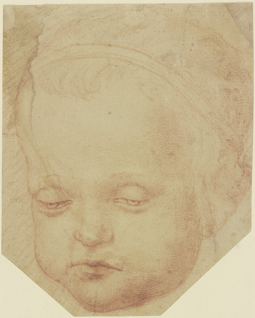 Child's head from the front, Unknown, 16th century
