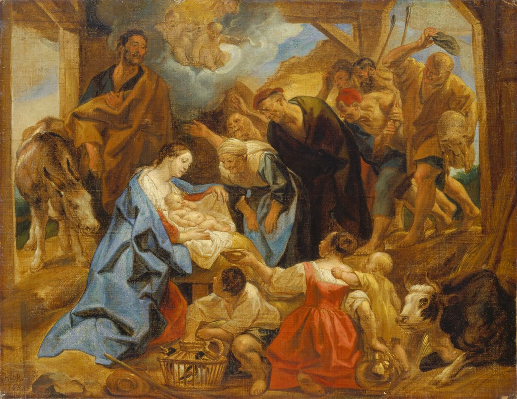The Adoration of the Shepherds, Jacob Jordaens