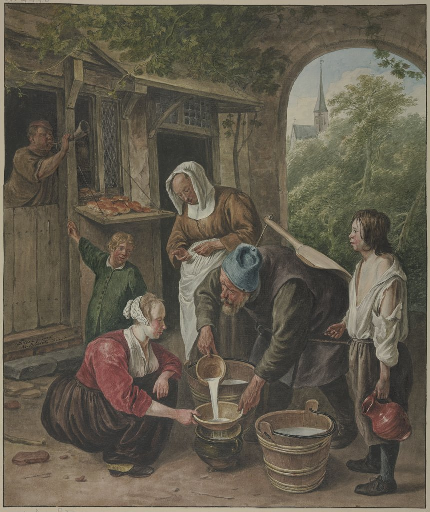 The milk seller, Wybrand Hendriks, after Jan Steen