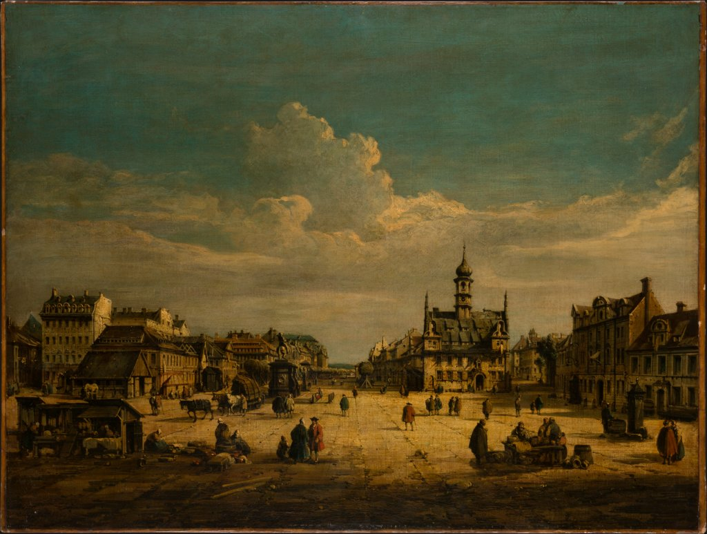 Dresden Neustadt with a View Towards the North, copy after Bernardo Bellotto
