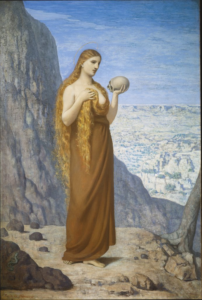 Saint Mary Magdalene in the Desert, Pierre Puvis de Chavannes