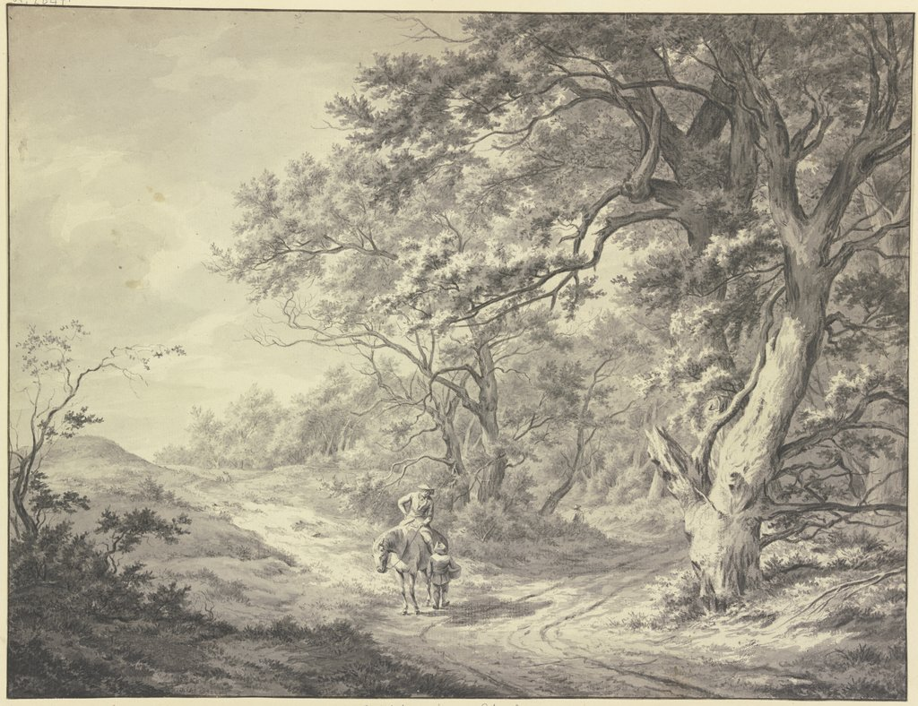 Edge of the forest near Haarlem, Franciscus Andreas Milatz