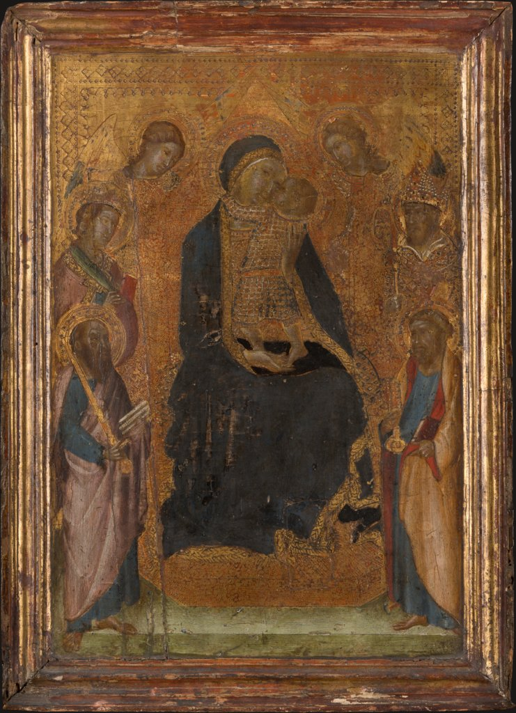 Madonna and Child Enthroned, with Saints and Angels, Lippo Vanni
