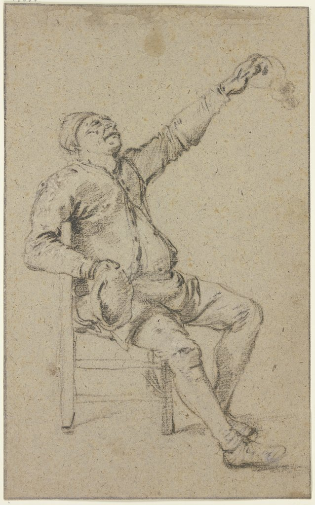 Sitting farmer, Klaes Molenaer