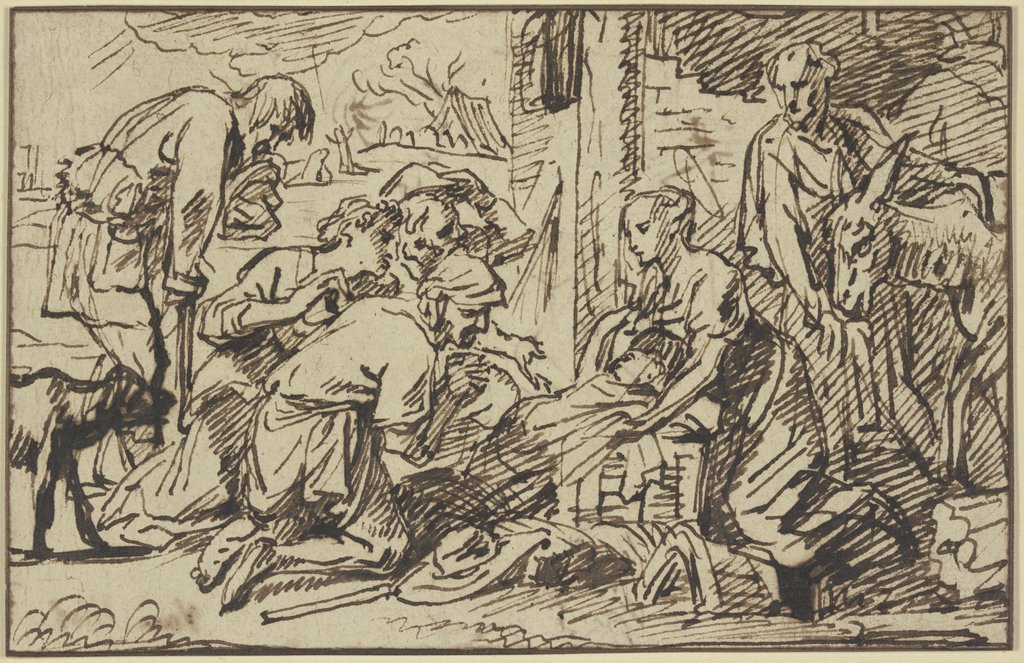 Adoration of the shepherds, Pieter van Mol