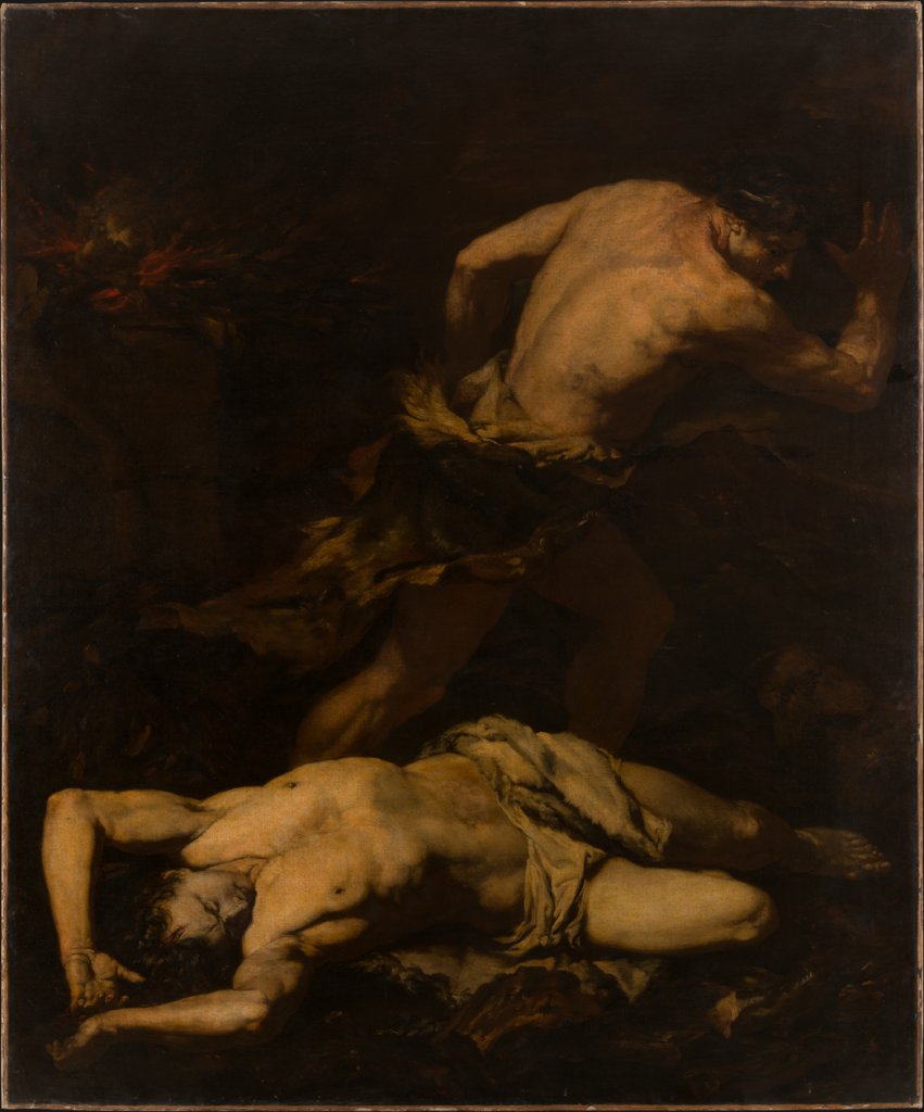 Cain Fleeing after the Murder of Abel, Giovanni Battista Langetti