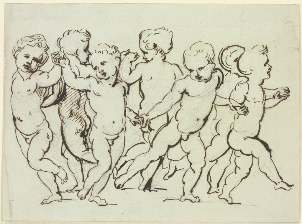 Dance of the cupids, Giuseppe Bossi, after Marcantonio Raimondi, after Raphael
