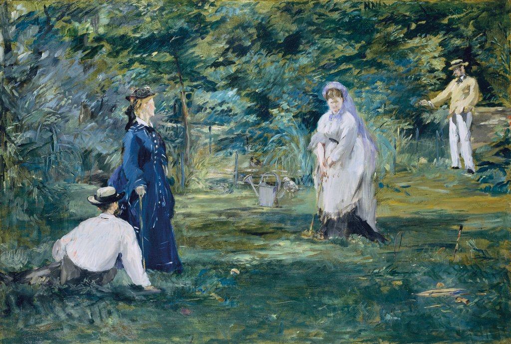 A Game of Croquet, Édouard Manet