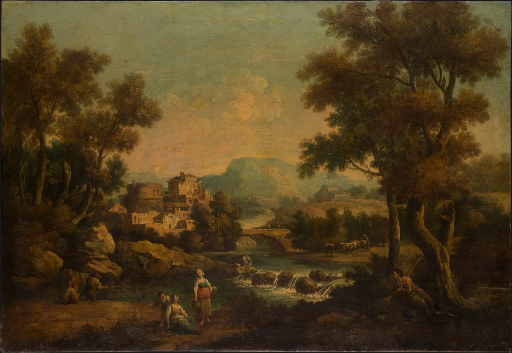 Italian Landscape with a Mountain Stream, Francesco Zuccarelli