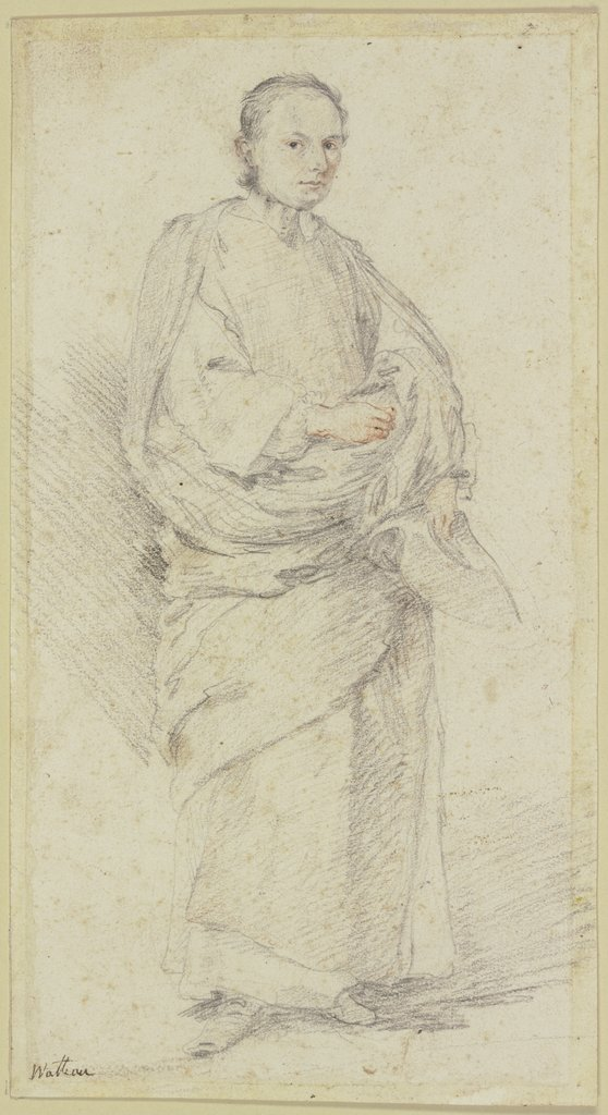 An abbé, whole figure, French, 18th century