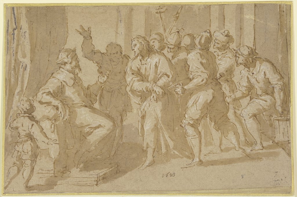 Christ before Caiaphas, Jacopo Palma il Giovane
