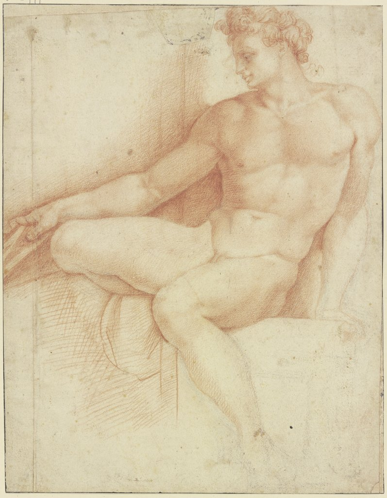 Ignudo zur Rechten der Erithreäischen Sibylle, Unknown, 16th century, after Michelangelo Buonarroti