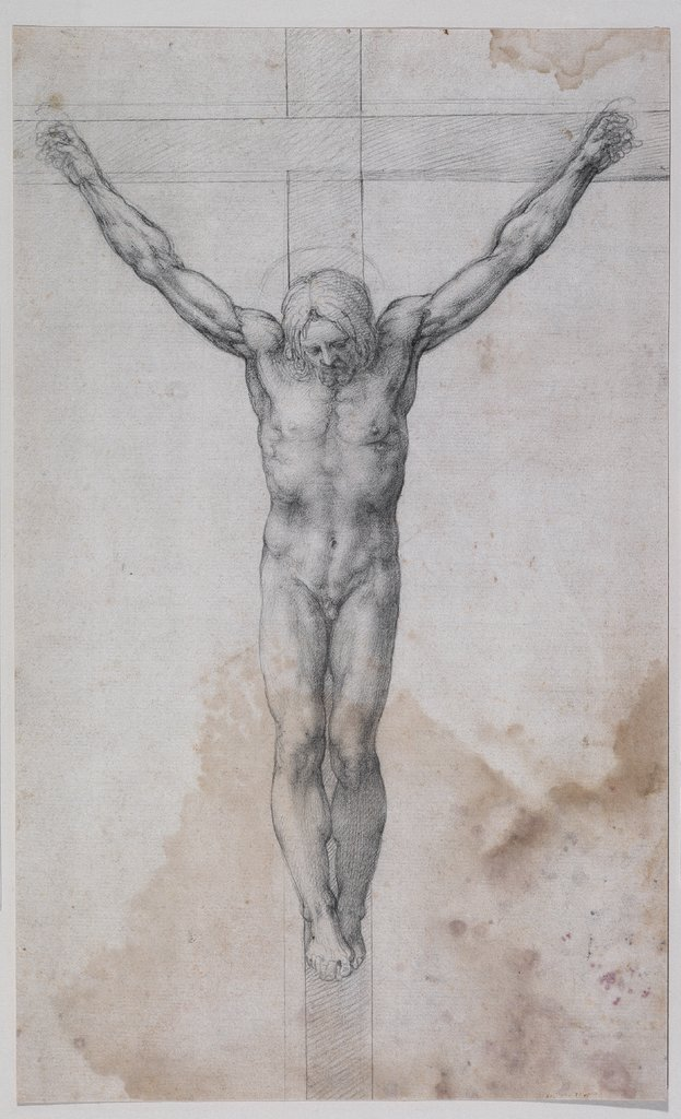 Christ on the cross, Unknown, 16th century, after Michelangelo Buonarroti