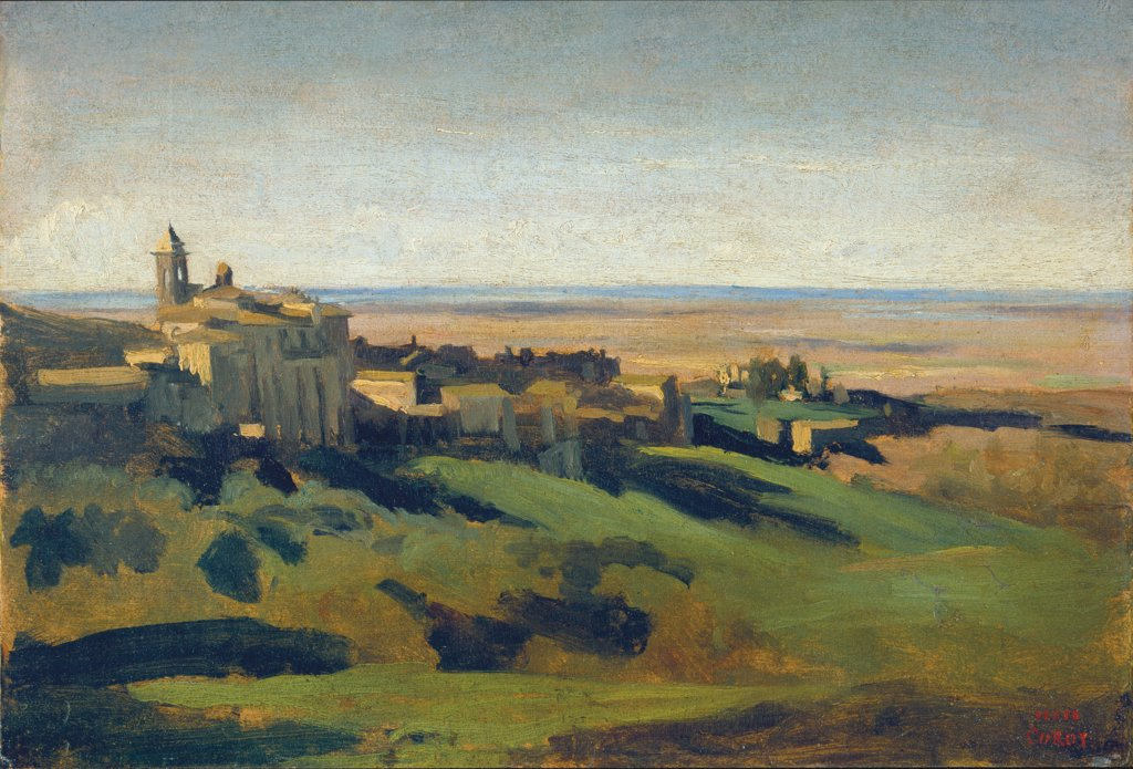 View of Marino in the Alban Mountains in the Early Morning, Camille Corot
