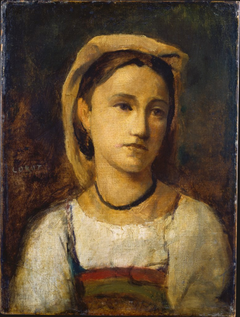 Portrait of an Italian Girl, Camille Corot