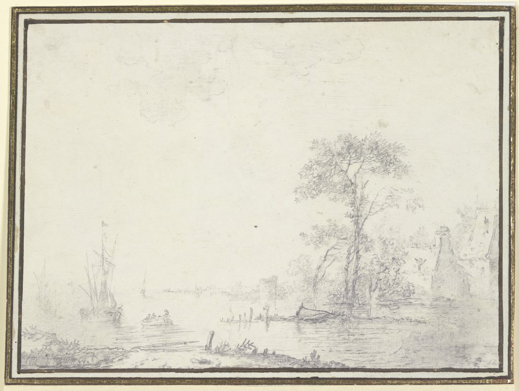 Scene at the river, Jean-Baptiste Le Prince   ?
