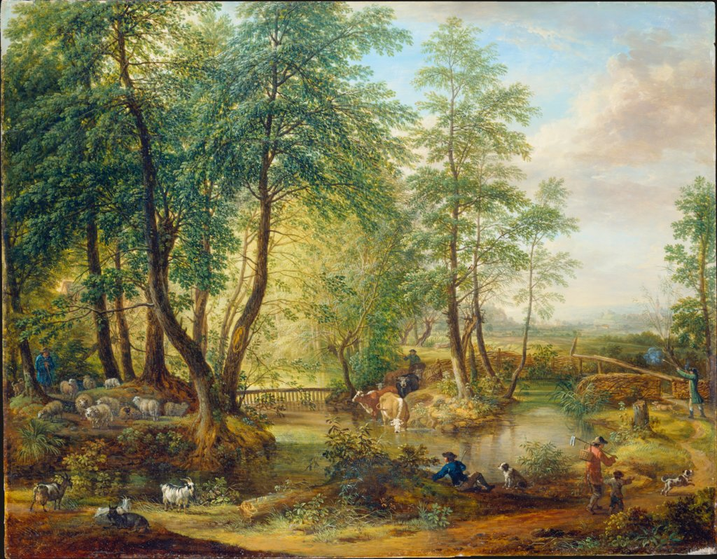 Flooded Woodlands near Oberrad, Christian Georg Schütz the Elder, Friedrich Wilhelm Hirt