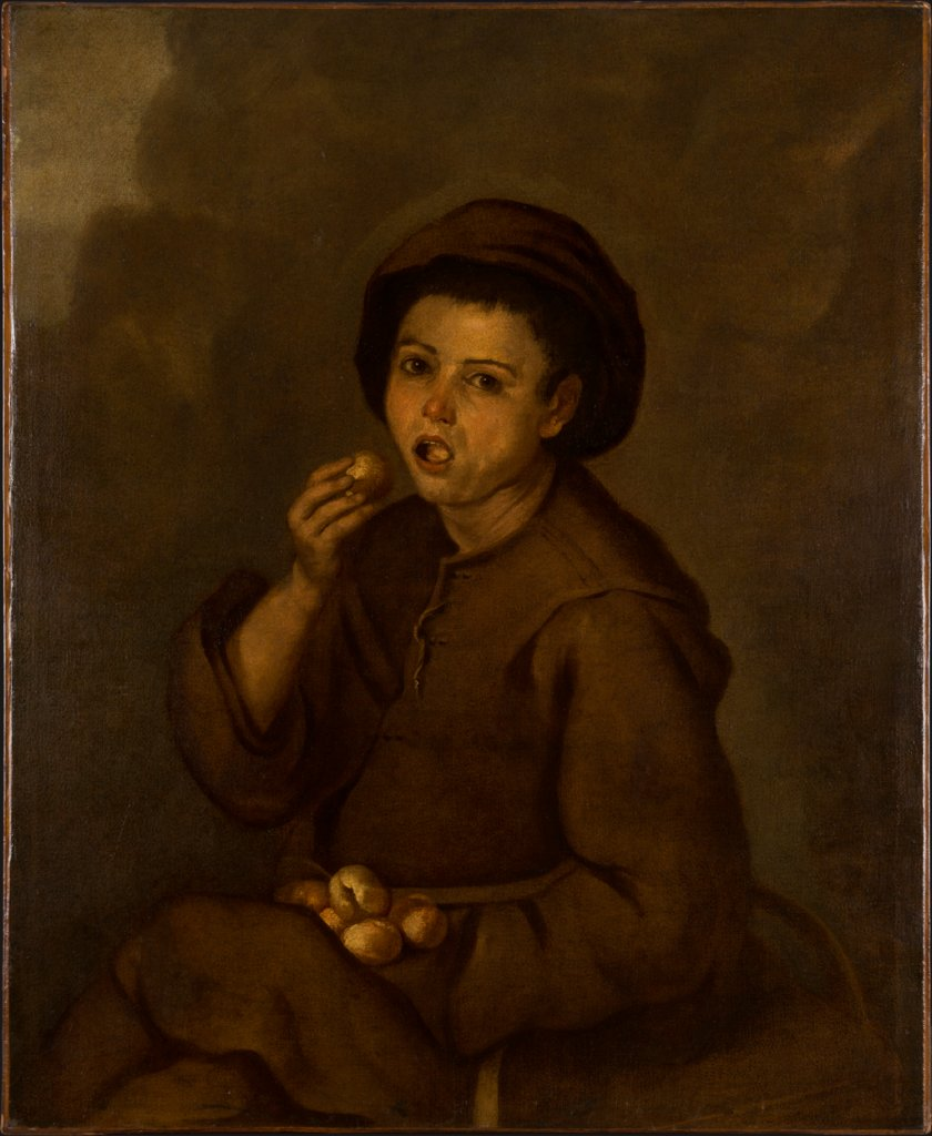 Boy Eating Peaches, copy after Bartolomé Esteban Murillo