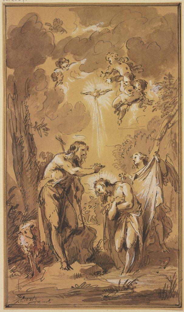 The baptism of Christ, Jacob de Wit