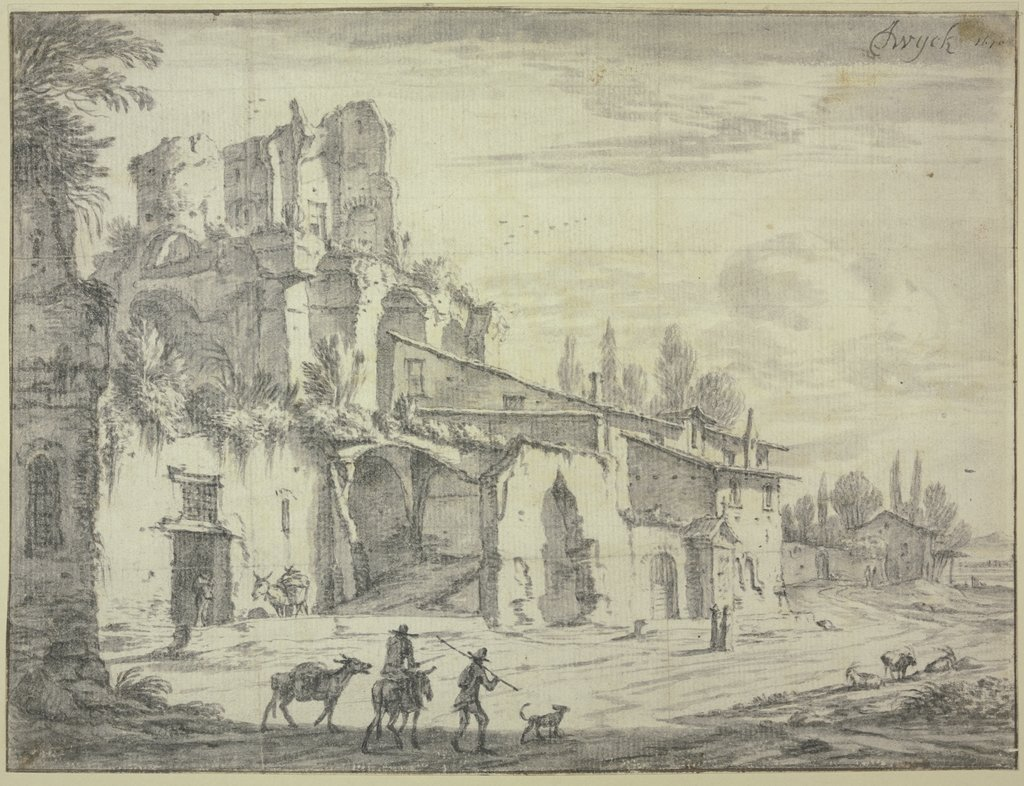 Landscape with ruins, Jan Wyck
