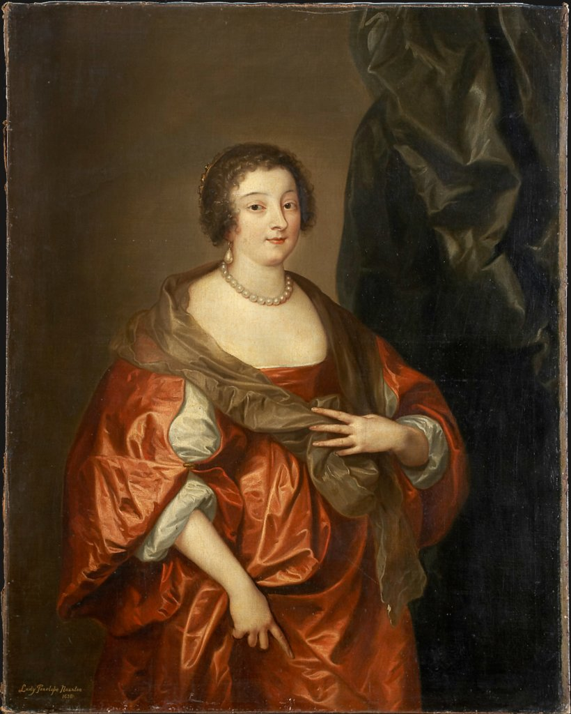 Portrait of Penelope Naunton, Lady Herbert, Art des Anthony van Dyck