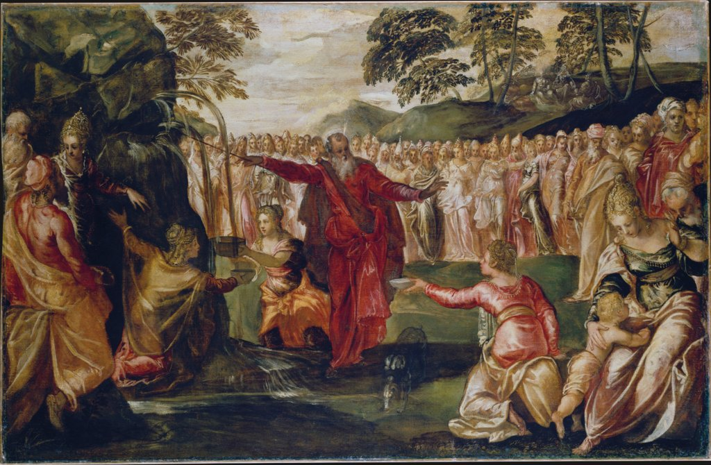 Moses Striking the Rock, Tintoretto