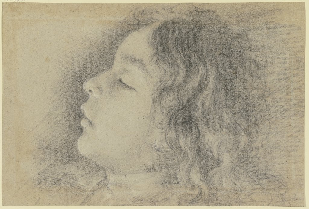 Head of a sleeping boy, Italian, 18th century
