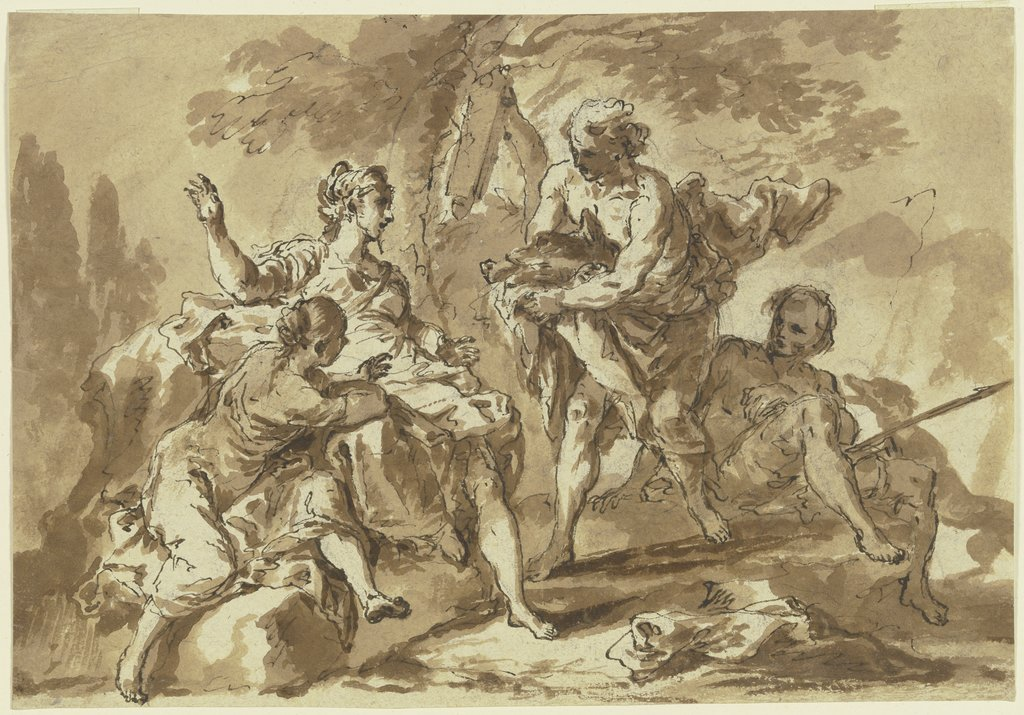Meleager and Atlante, Italian, 18th century