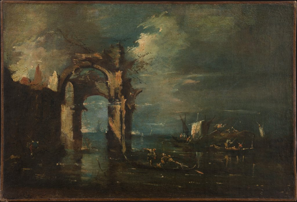 Lagunenlandschaft, Art des Francesco Guardi