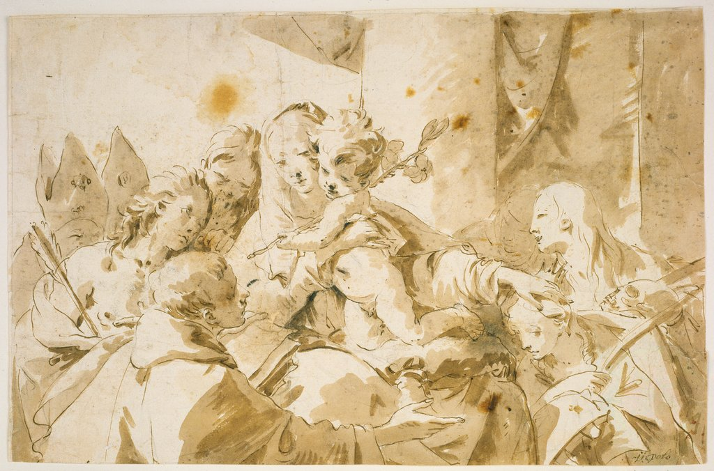 Madonna with Child and Saints, Giovanni Battista Tiepolo