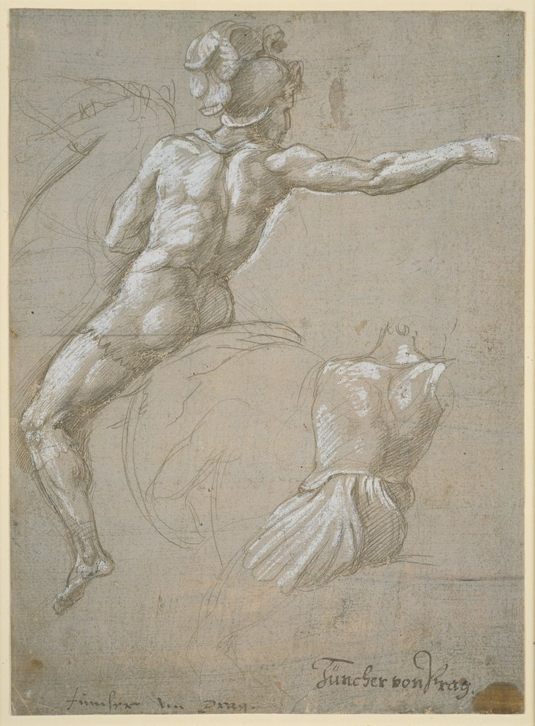 Study of a Warrior on Horseback, Raphael