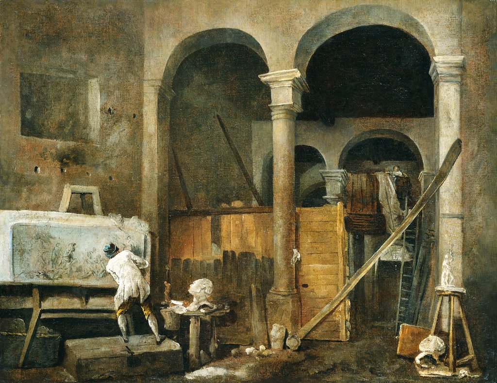 The Artist's Studio, Hubert Robert
