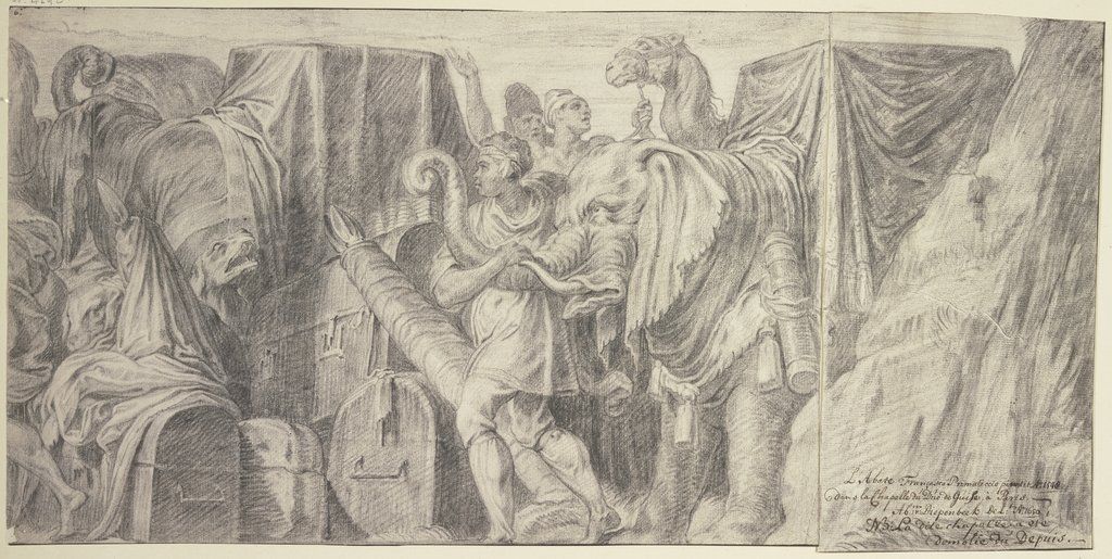 The adoration of the Kings, Abraham van Diepenbeeck, after Francesco Primaticcio