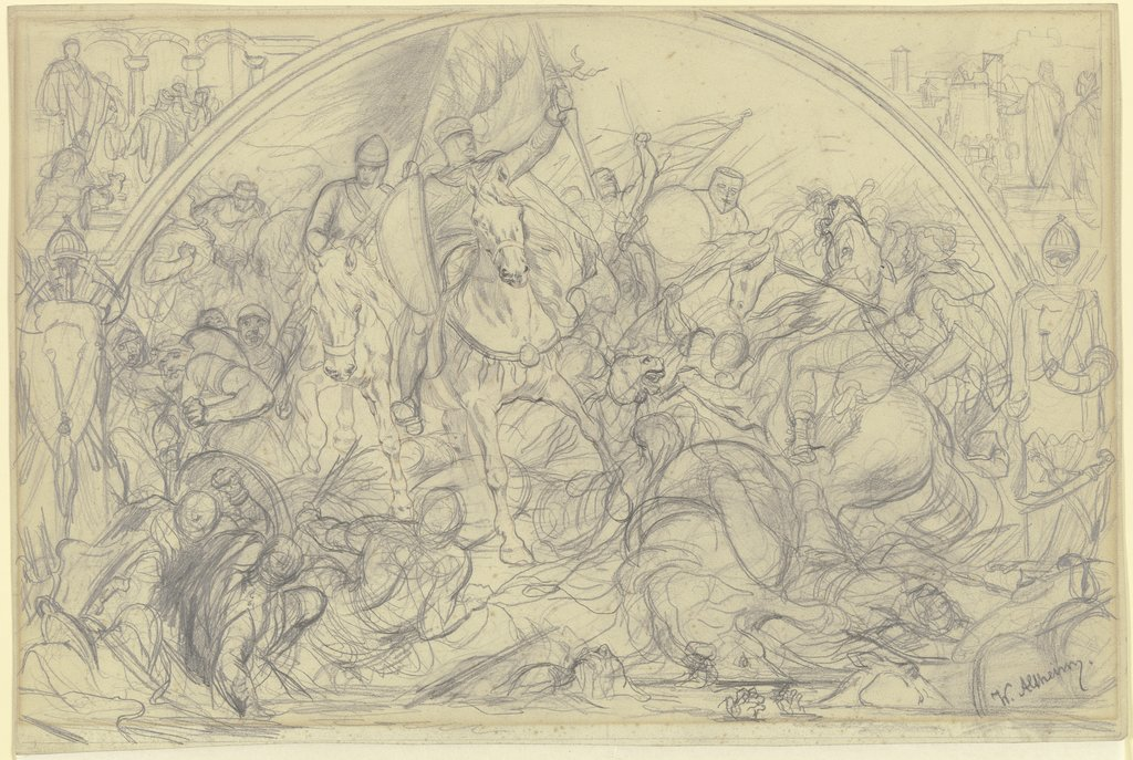 Cavalery battle, Wilhelm Altheim