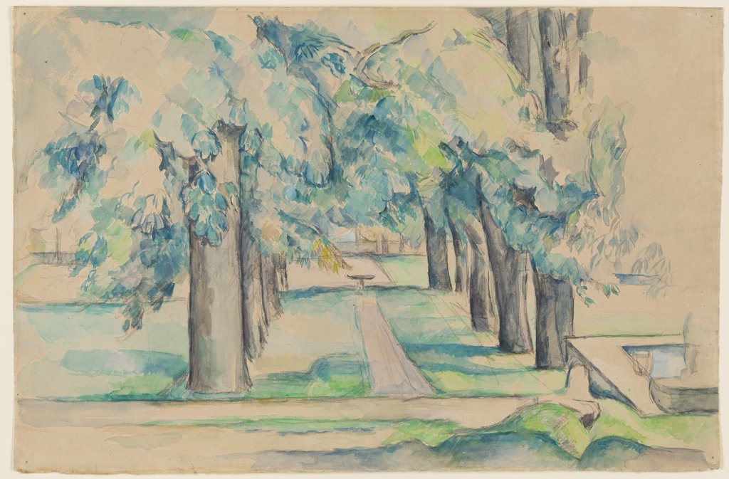 Avenue of Chestnut Trees at the Jas de Bouffan, Paul Cézanne