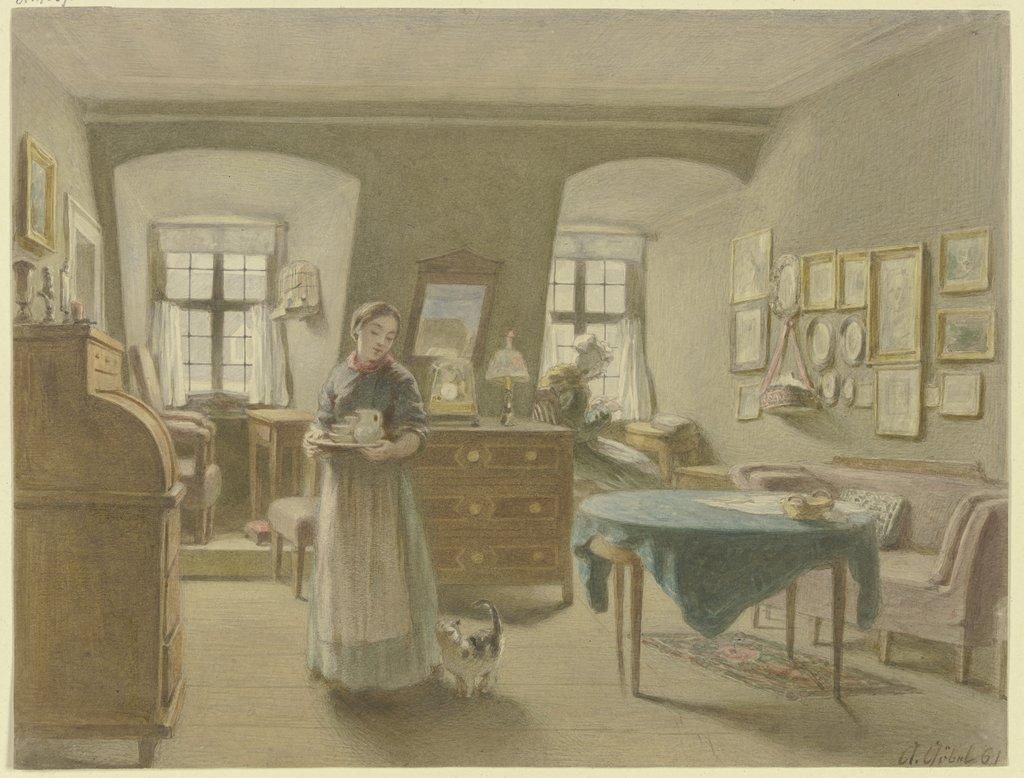 Peasant sitting room, Angilbert Göbel