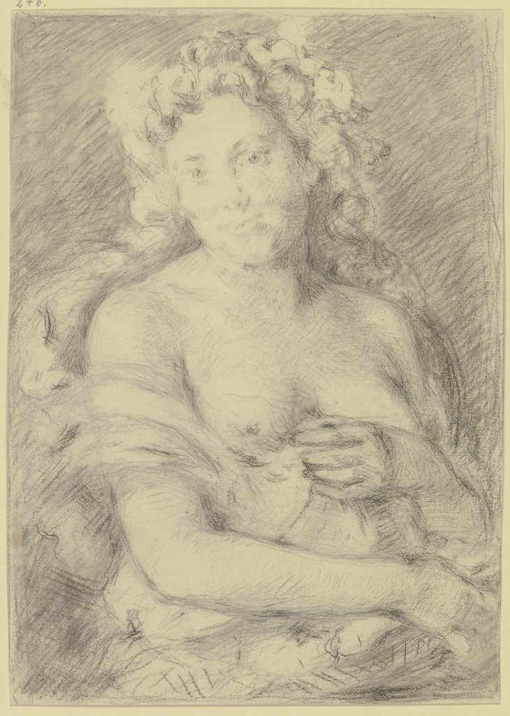 Bacchante with curly hair, Angilbert Göbel
