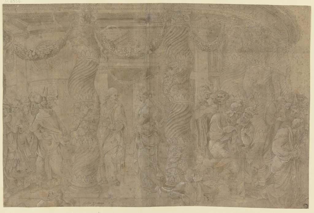 Christus und die Ehebrecherin, after Giulio Romano