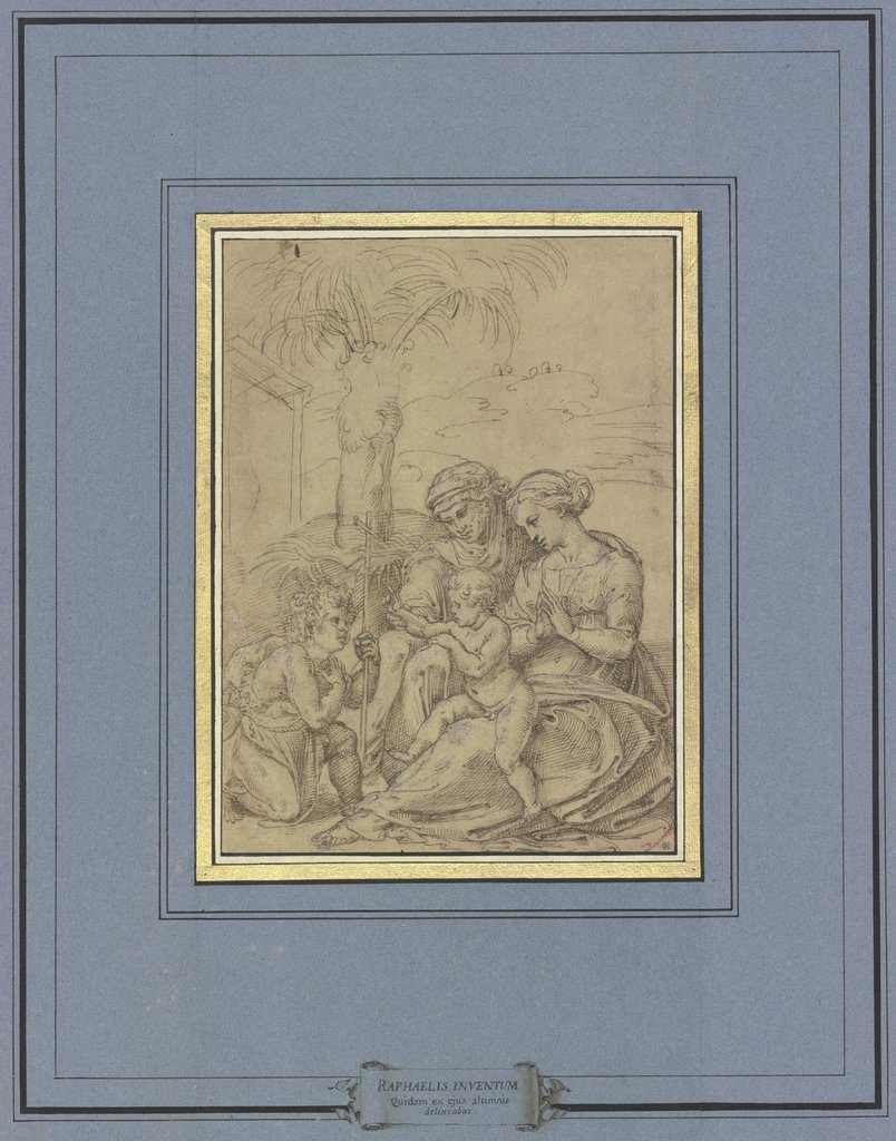 Madonna with the palm tree, Italian, 16th century, after Marcantonio Raimondi, after Raphael