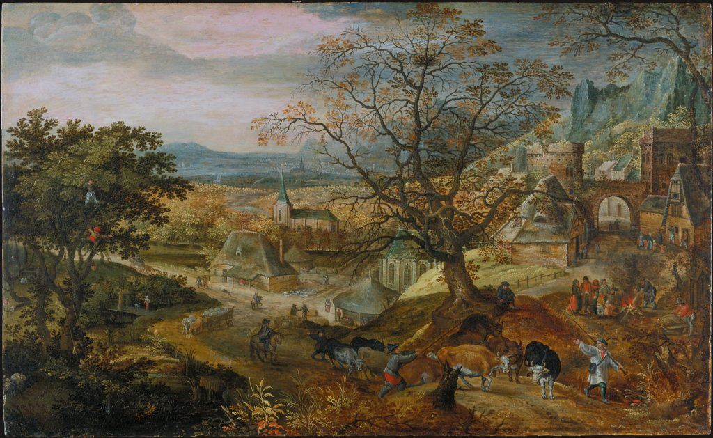 "Landscape with Village: ""Autumn"", Jacob Savery"