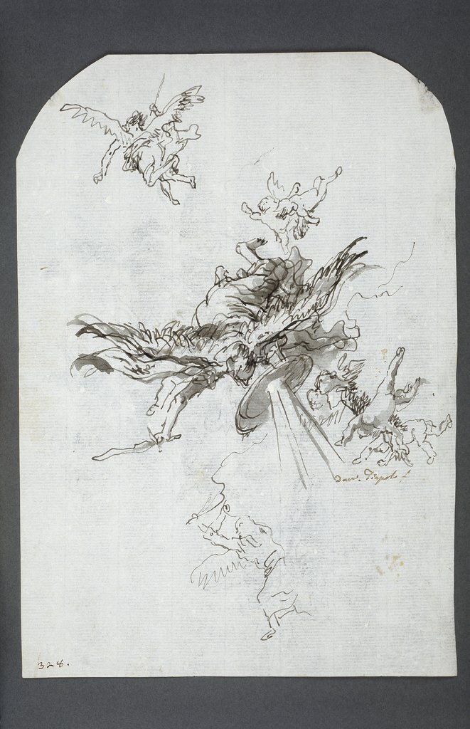 Archangel Michael, Giovanni Domenico Tiepolo