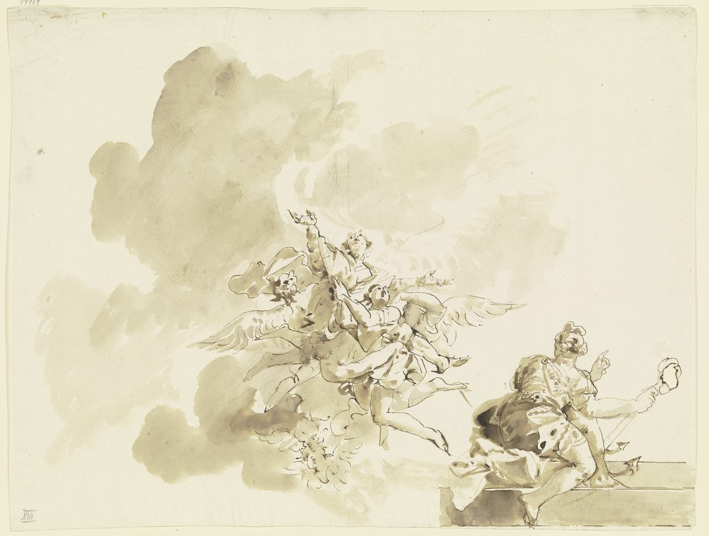 Assumption of a Saint, Giovanni Domenico Tiepolo   ?