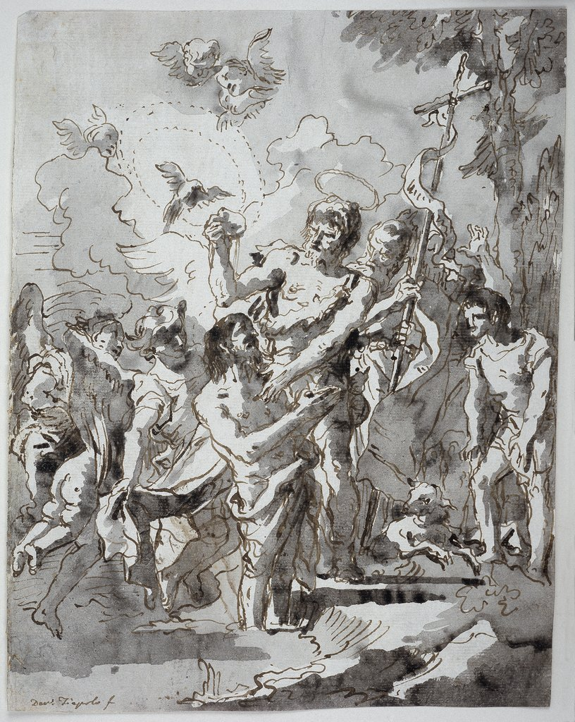 Baptism of Christ in the Jordan, Giovanni Domenico Tiepolo