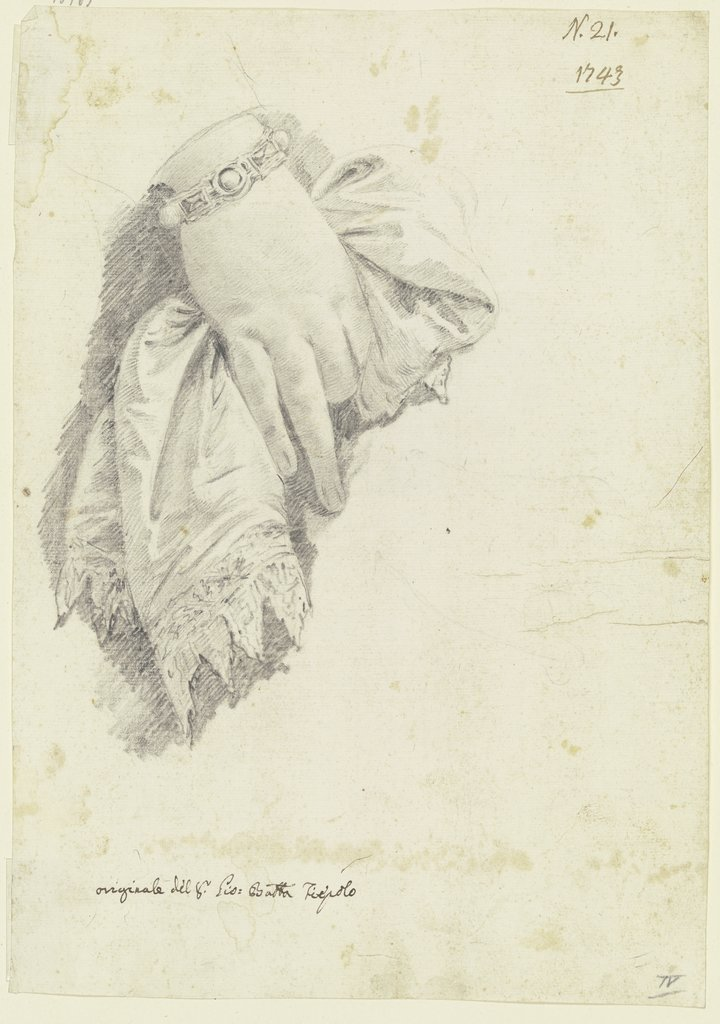 Female hand with cloth, Giovanni Battista Tiepolo  school ?