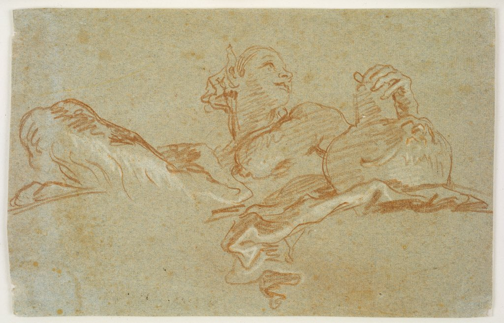 Female Faun with Amphora, seen from below, Giovanni Domenico Tiepolo, nach Giovanni Battista Tiepolo