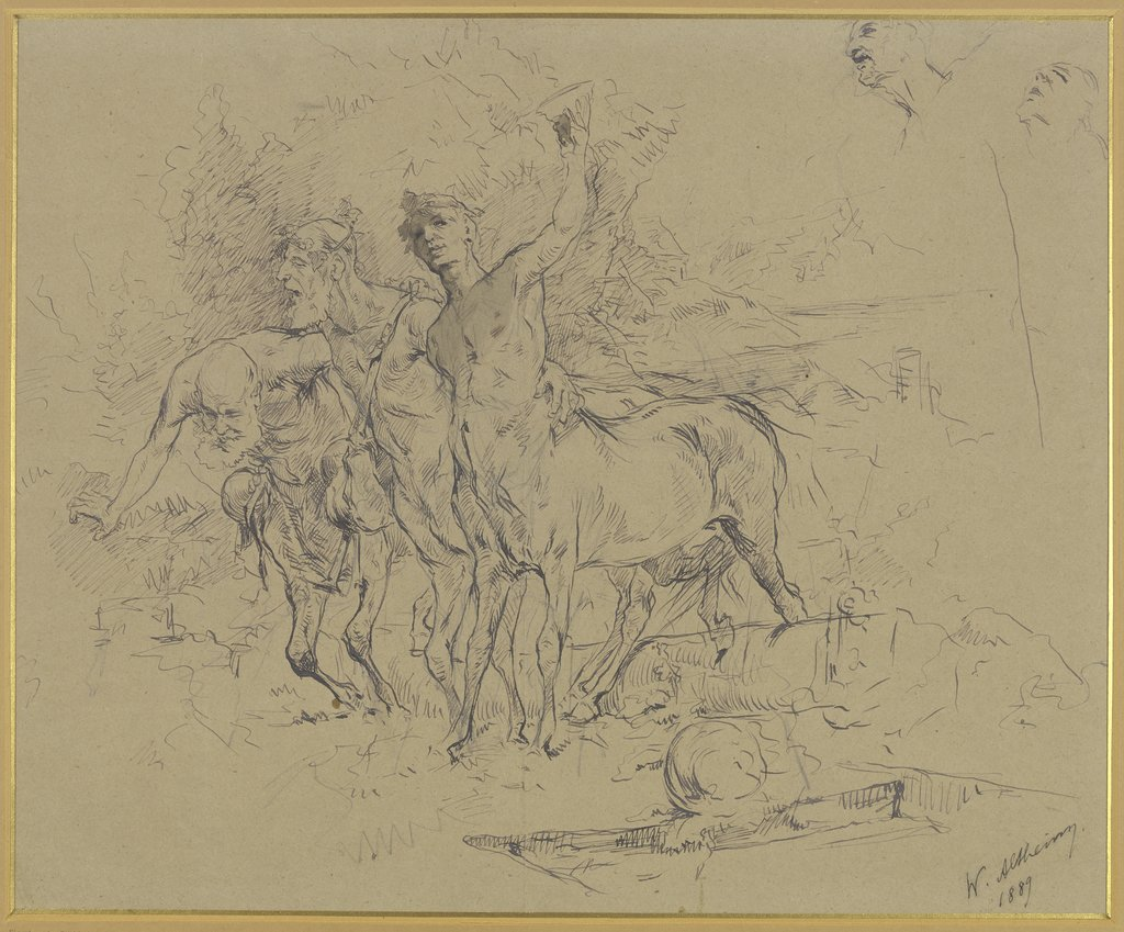 Three drunken centaurs, Wilhelm Altheim