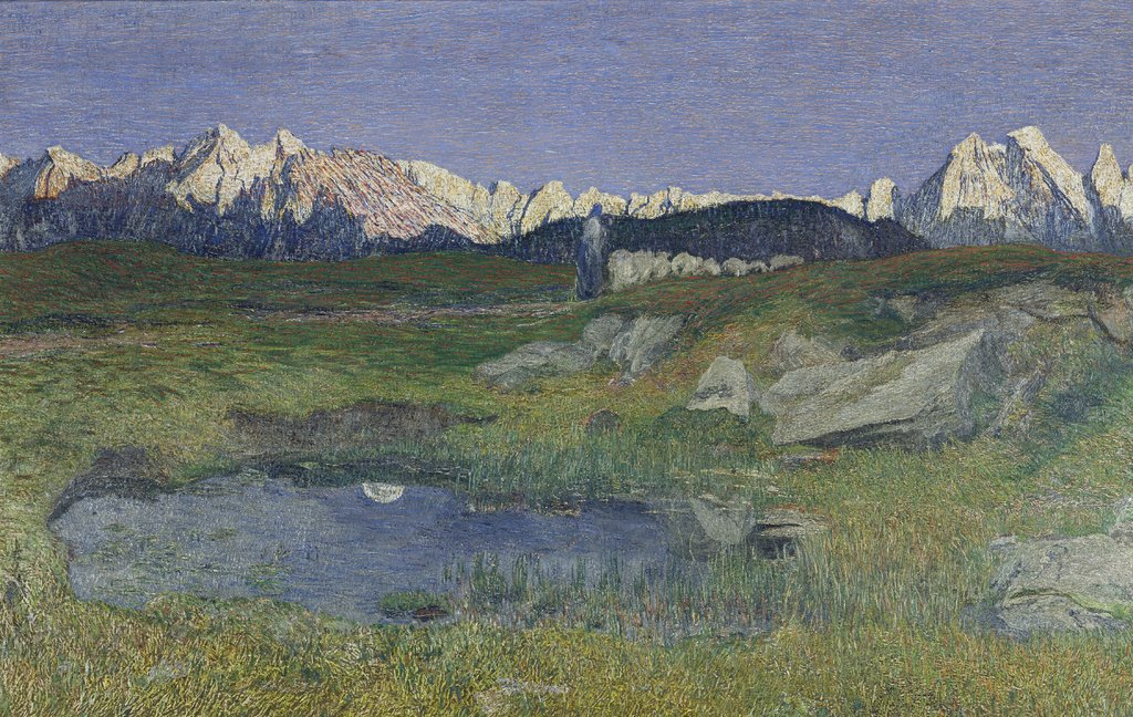 Alpine Landscape at Sunset, Giovanni Segantini